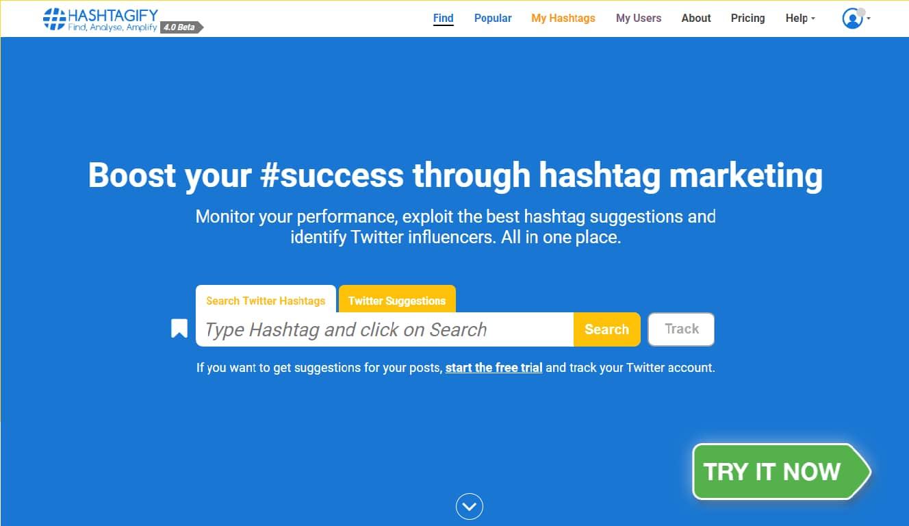 hashtagify-Twitter Hashtag Tracking Tools